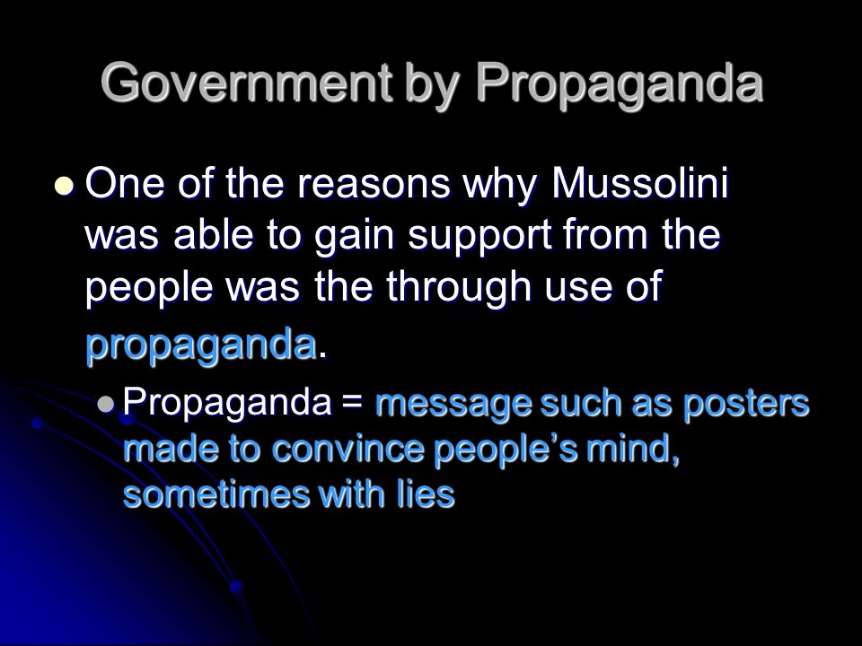 Government by Propaganda