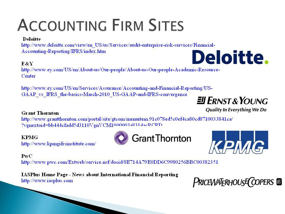 Accounting Firm Sites