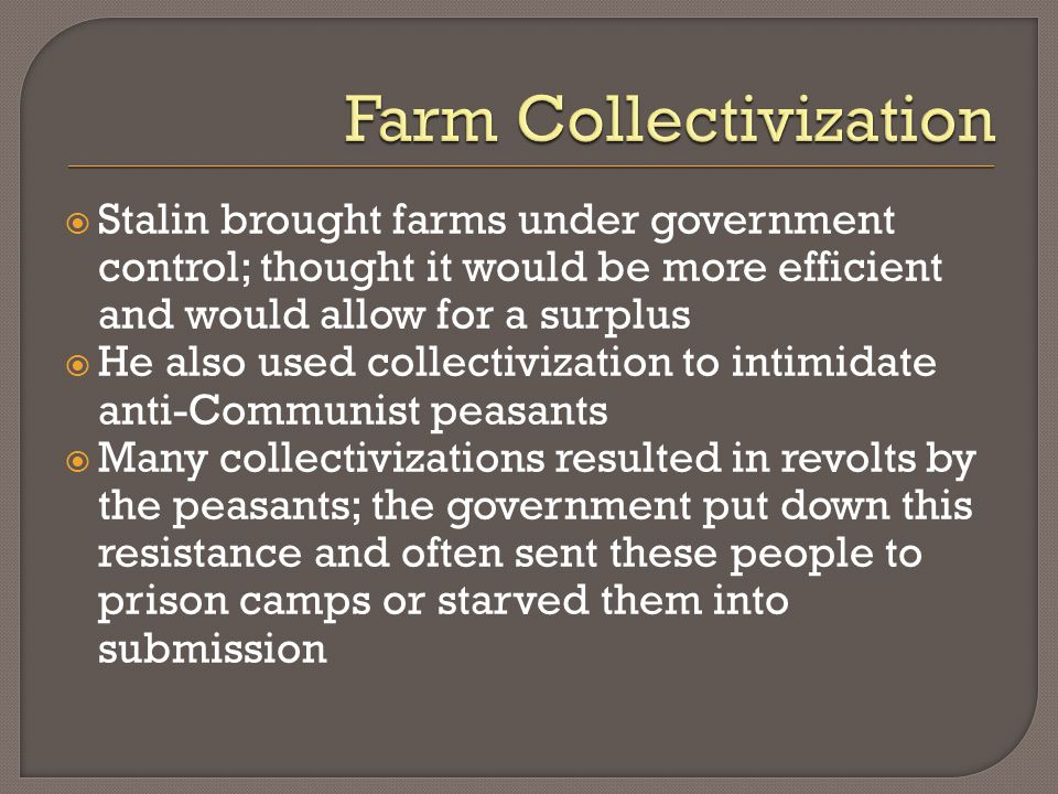 Farm Collectivization