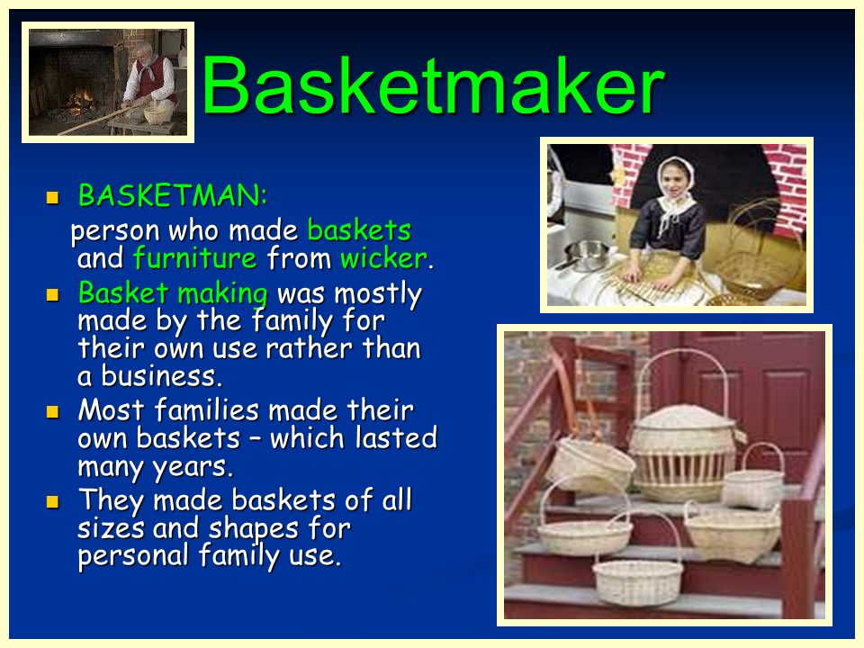 Basketmaker BASKETMAN: