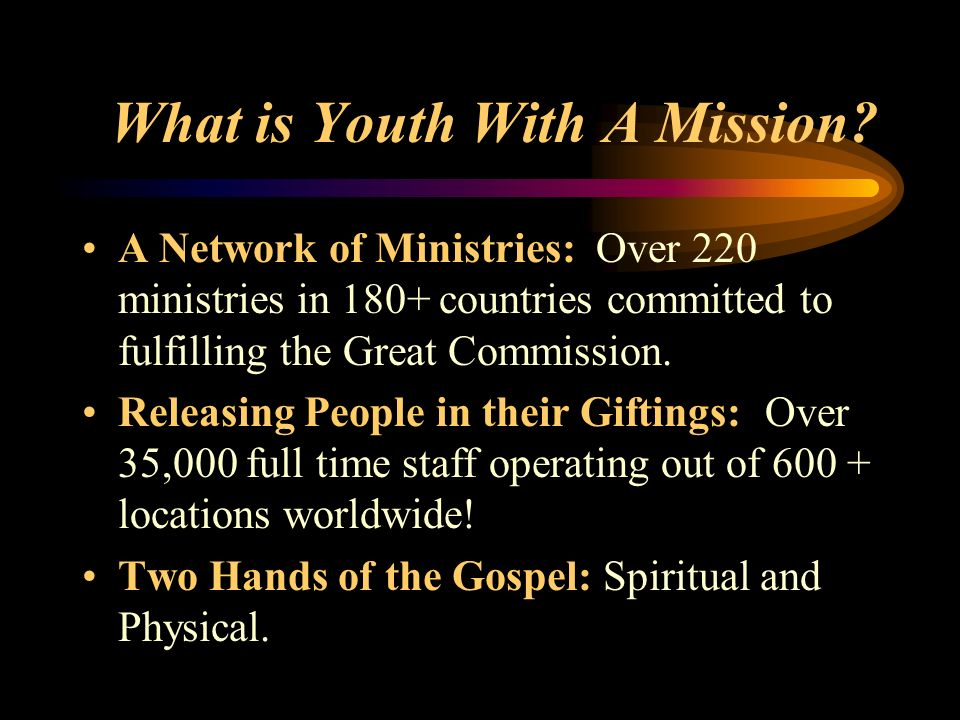 What is Youth With A Mission