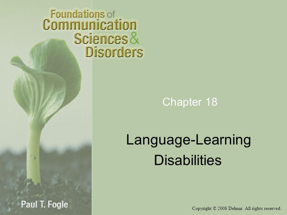 Language-Learning Disabilities