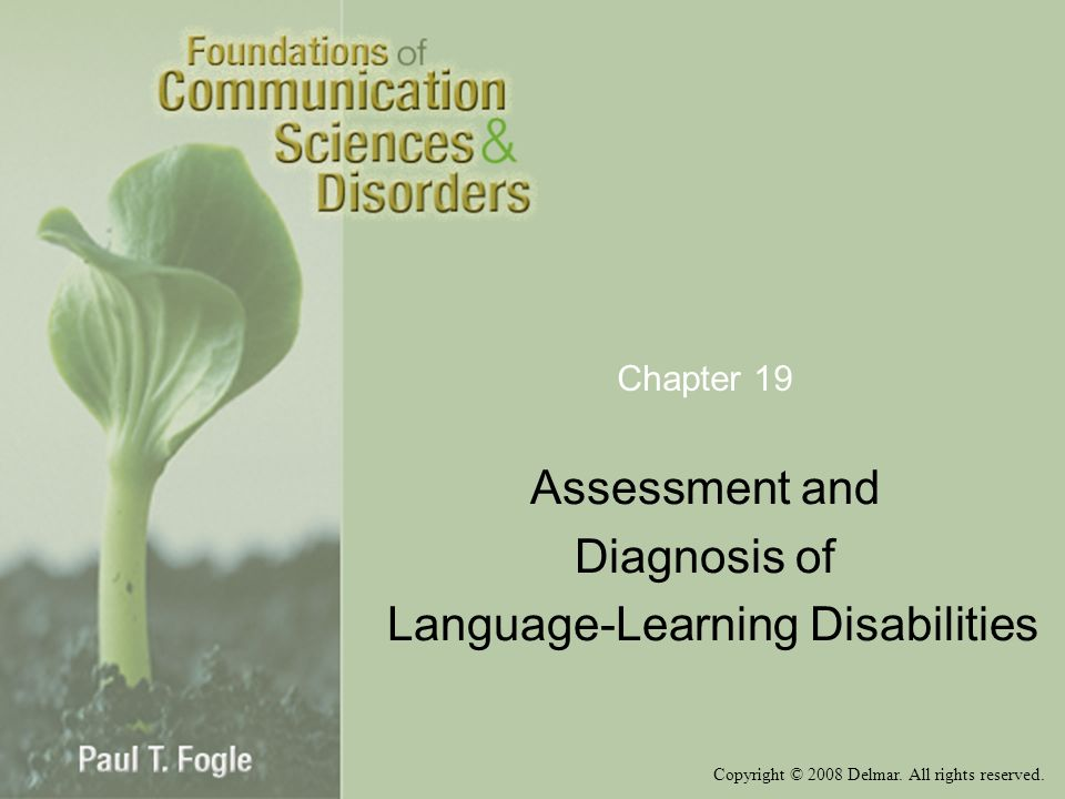 Assessment and Diagnosis of Language-Learning Disabilities