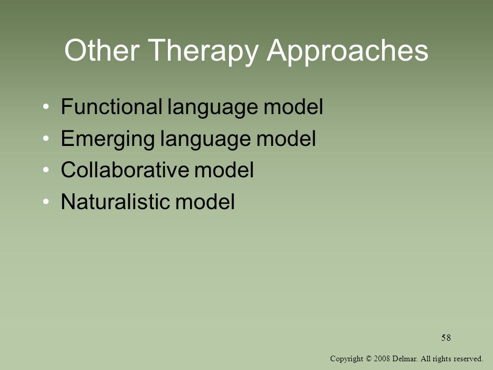 Other Therapy Approaches