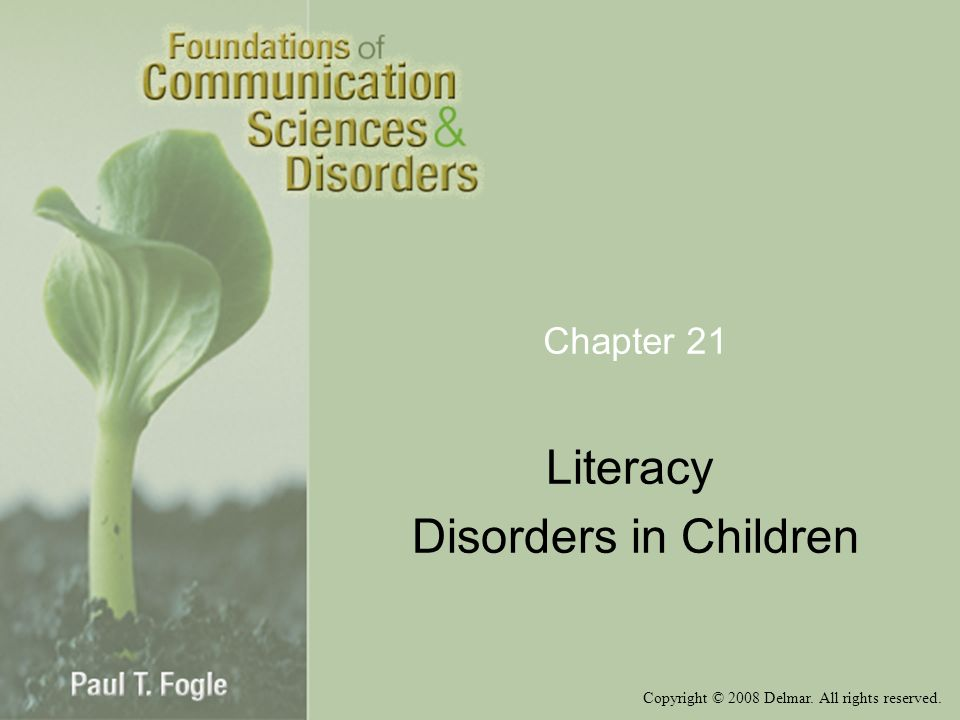 Literacy Disorders in Children