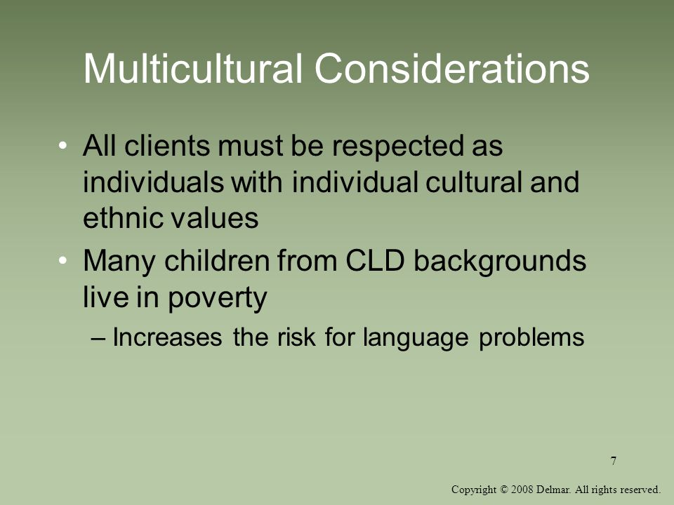Multicultural Considerations