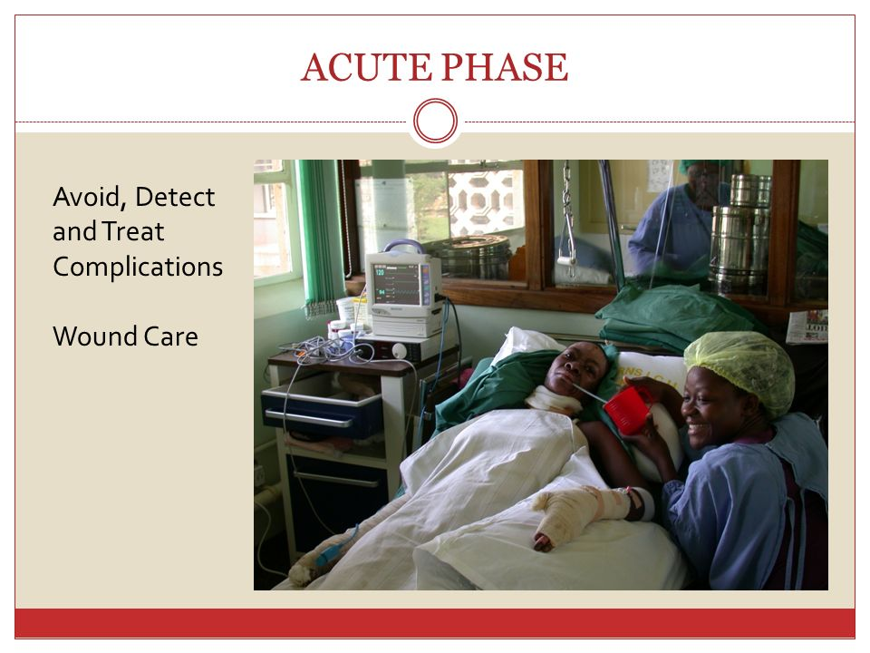 ACUTE PHASE Avoid, Detect and Treat Complications Wound Care