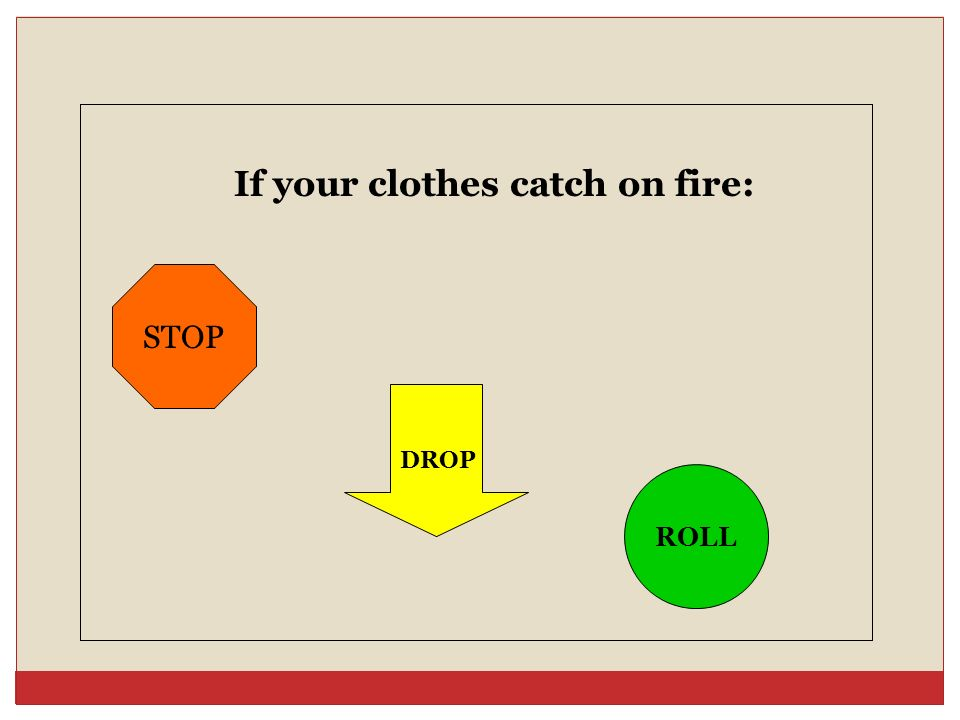 If your clothes catch on fire: