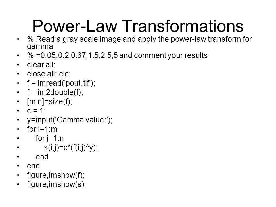 Power-Law Transformations