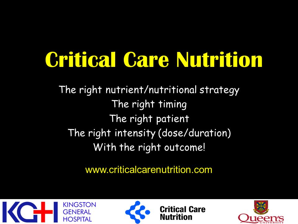 Critical Care Nutrition