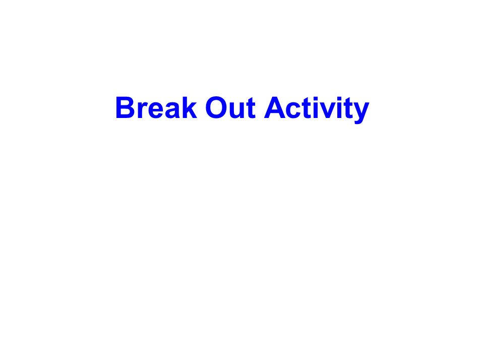 Break Out Activity