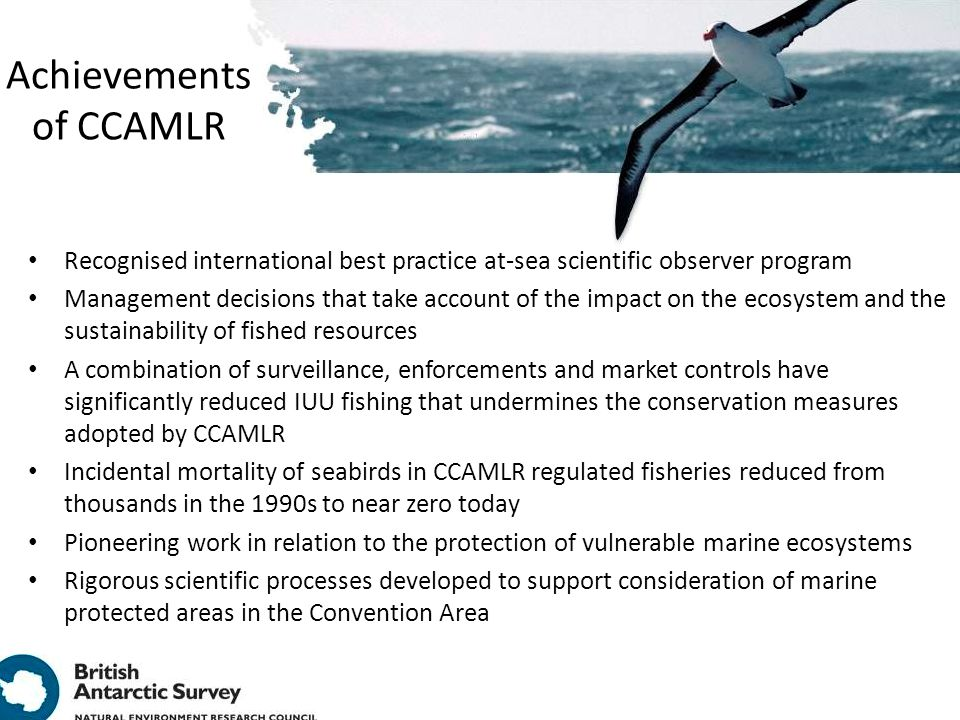 Achievements of CCAMLR