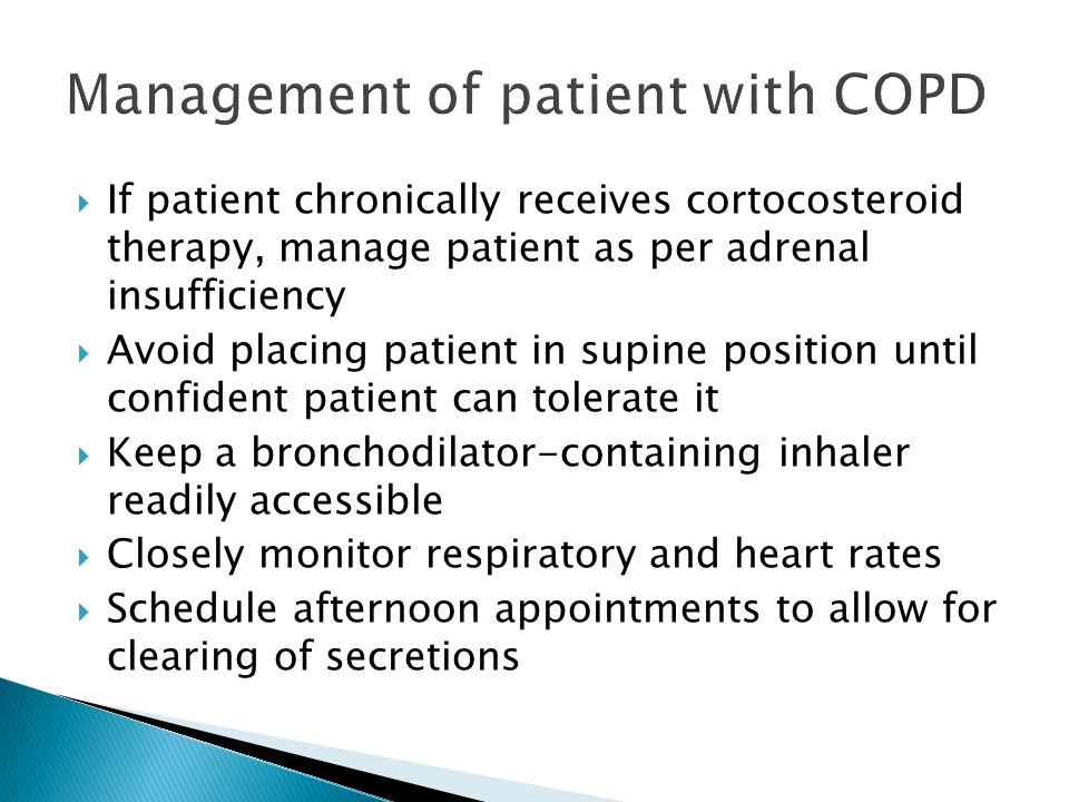 Management of patient with COPD