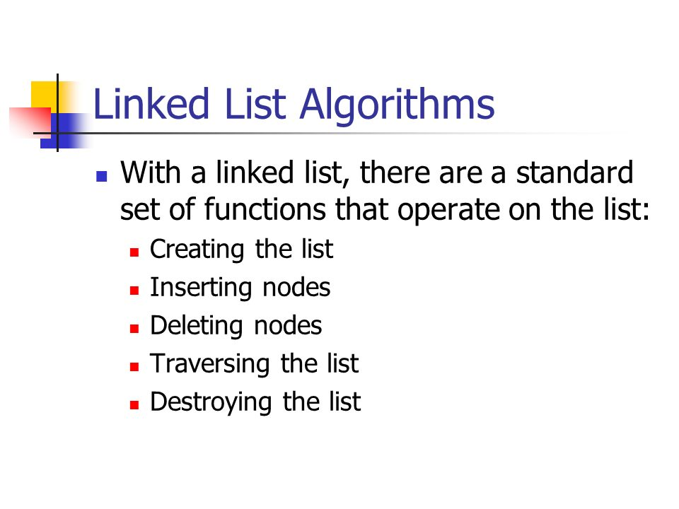 Linked List Algorithms