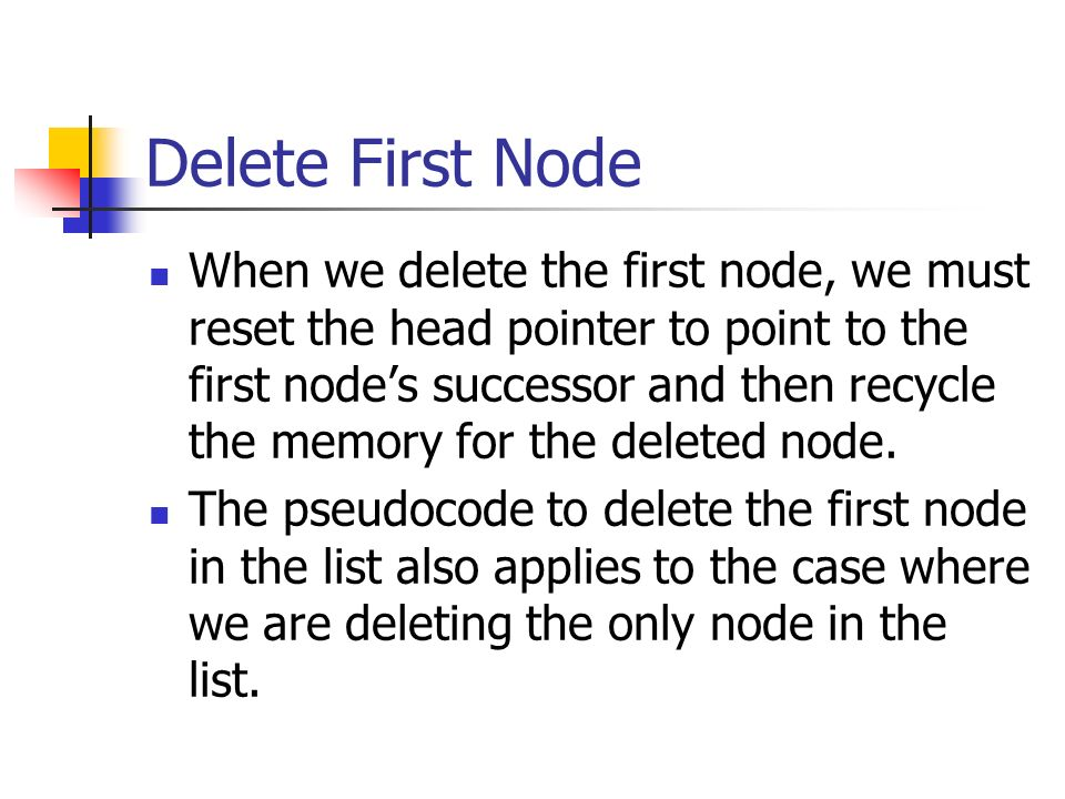 Delete First Node