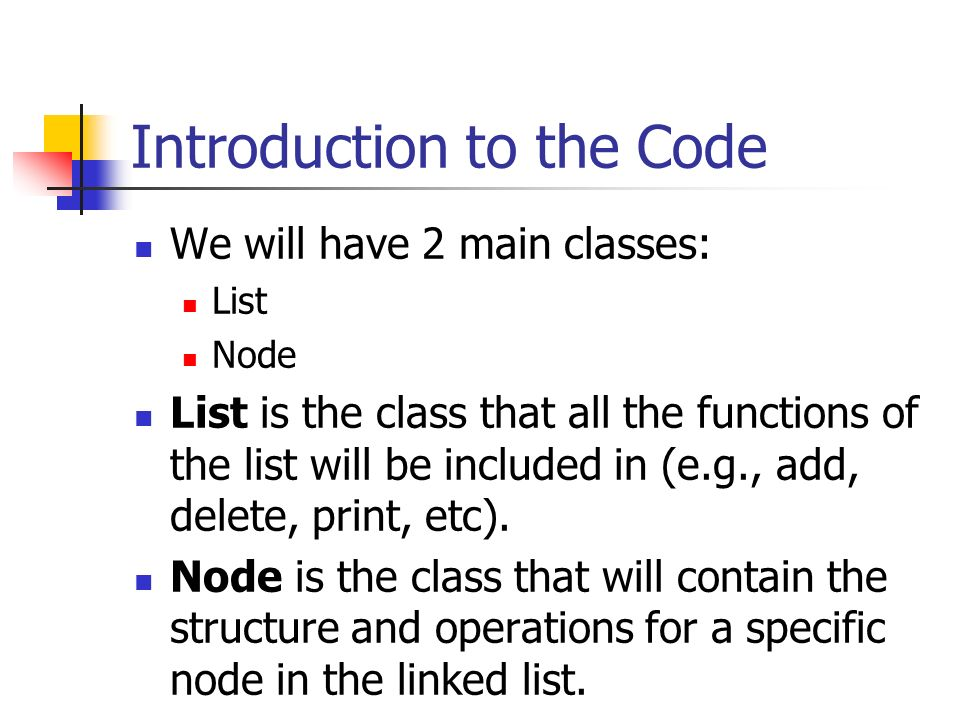 Introduction to the Code