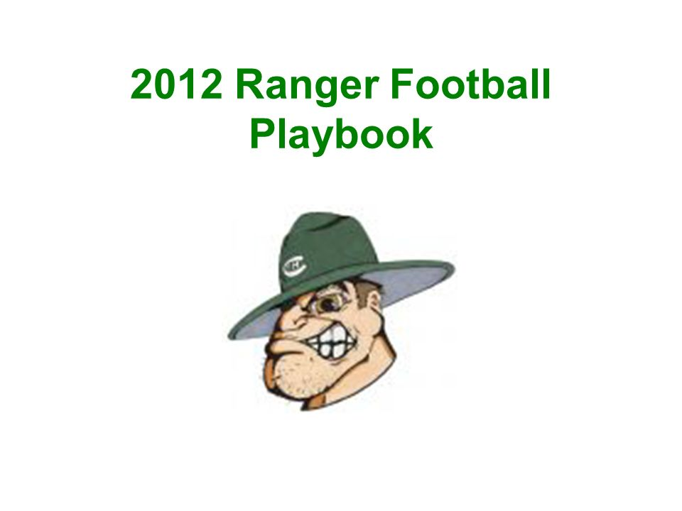 2012 Ranger Football Playbook