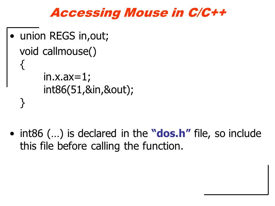 Accessing Mouse in C/C++