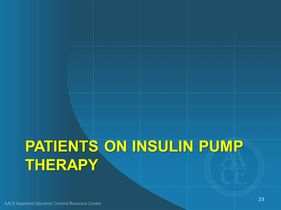 PatientS on Insulin Pump therapy