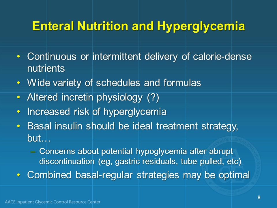 Enteral Nutrition and Hyperglycemia
