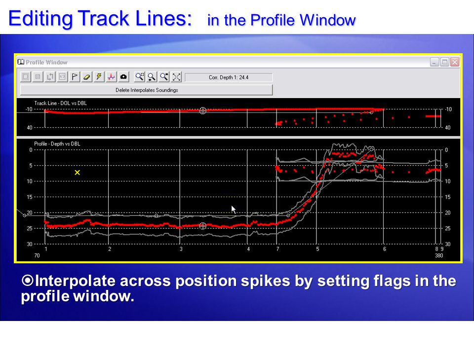 Editing Track Lines: in the Profile Window