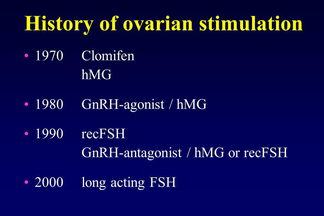 History of ovarian stimulation