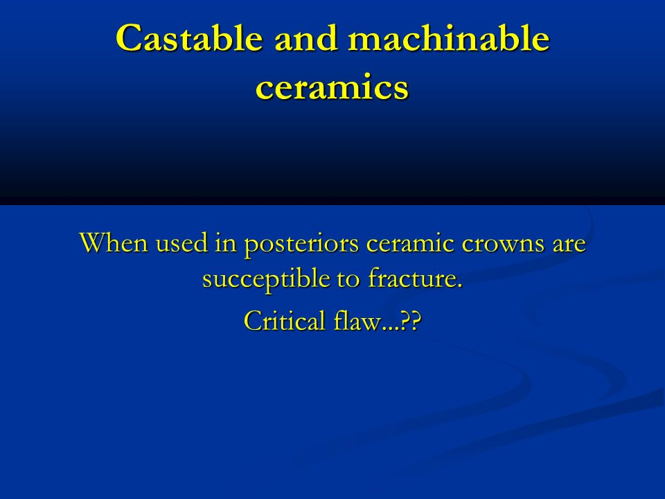 Castable and machinable ceramics