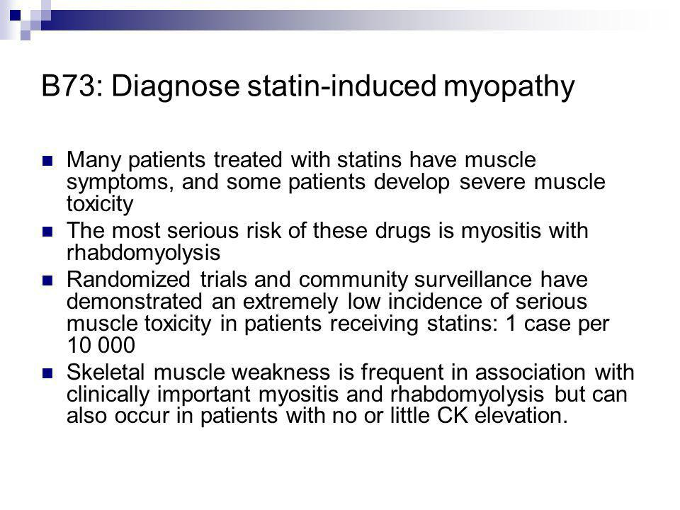 B73: Diagnose statin-induced myopathy