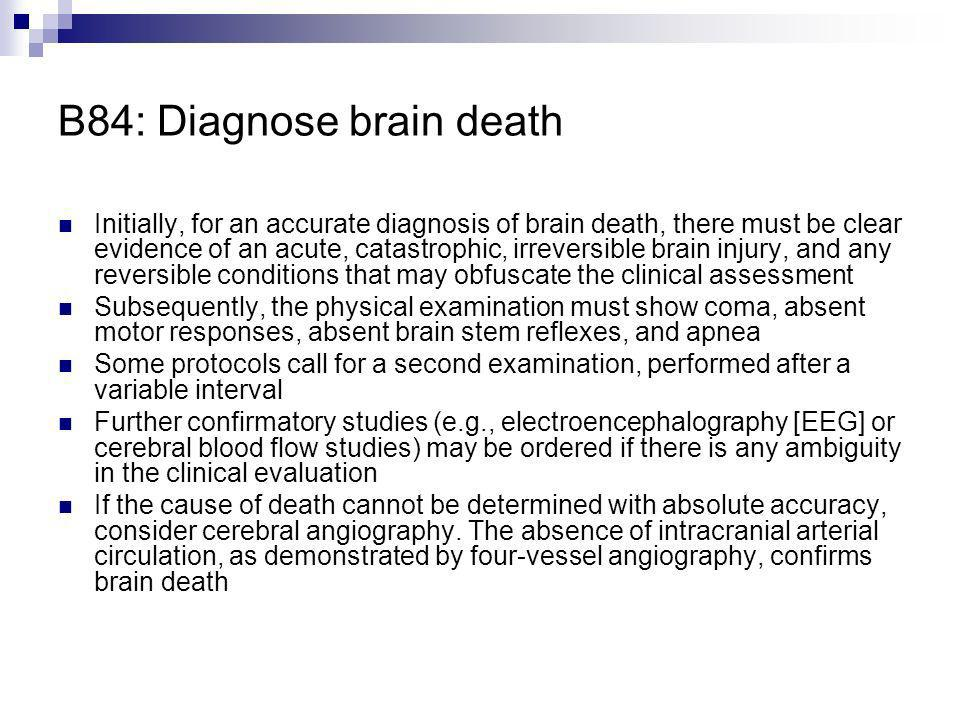 B84: Diagnose brain death