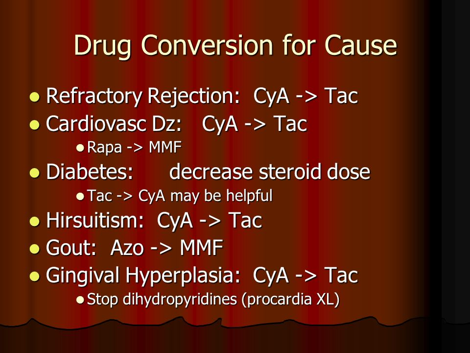 Drug Conversion for Cause