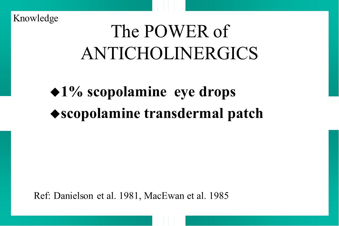 The POWER of ANTICHOLINERGICS