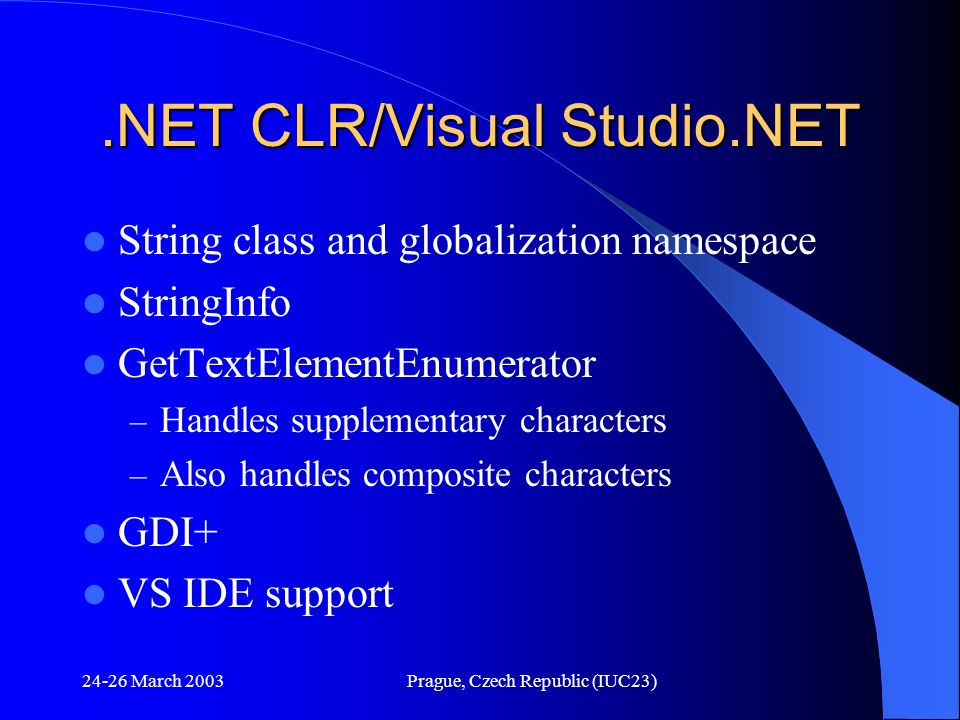 .NET CLR/Visual Studio.NET