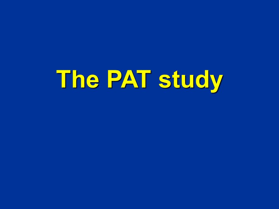 The PAT study Cancun Prevention of asthma in childhood