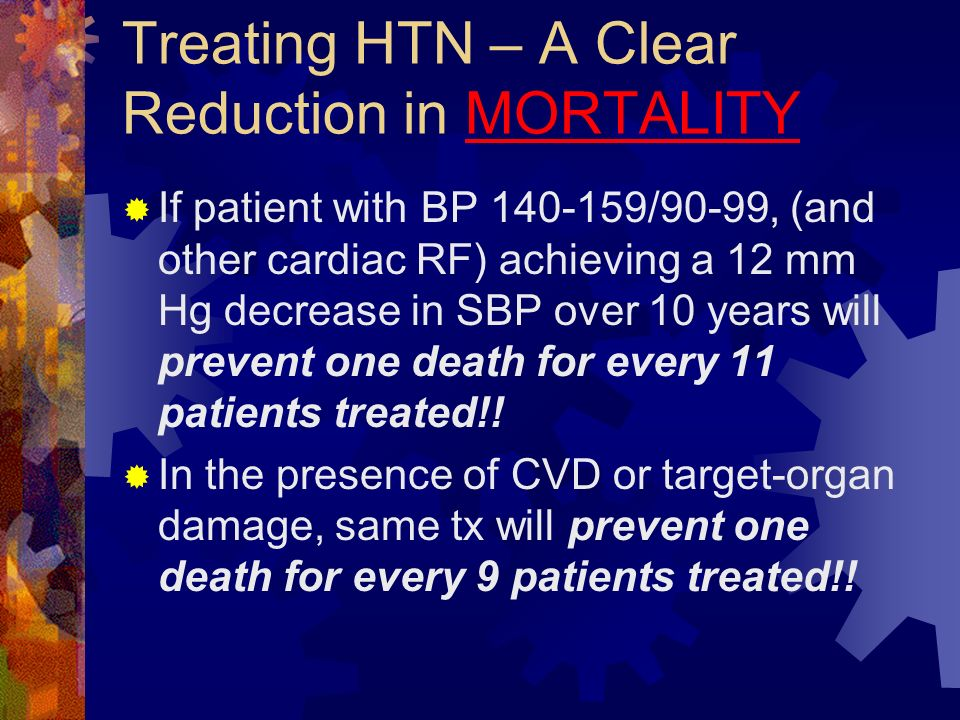 Treating HTN – A Clear Reduction in MORTALITY