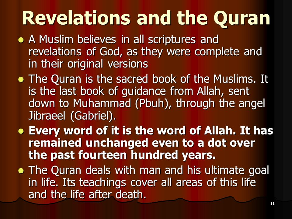 Revelations and the Quran