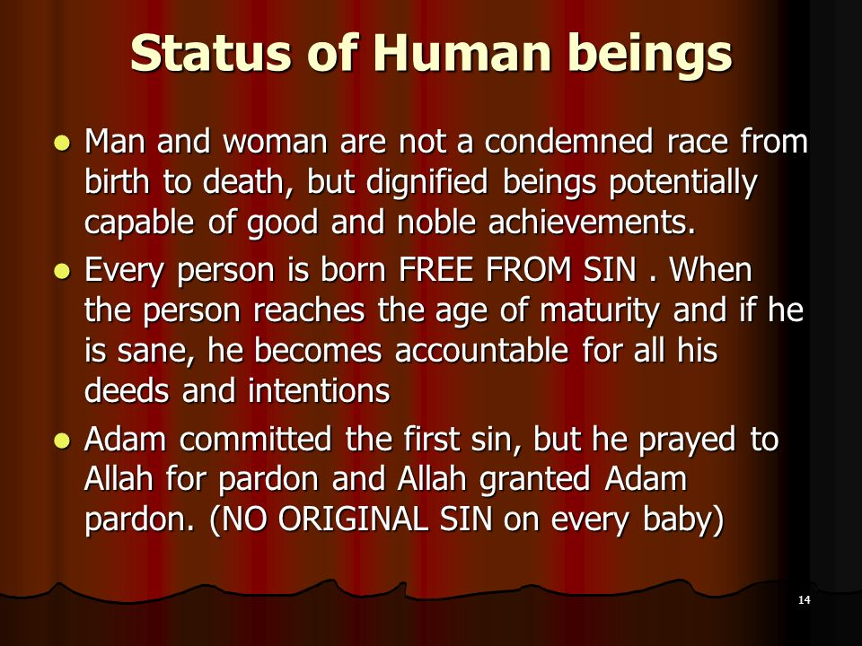 Status of Human beings