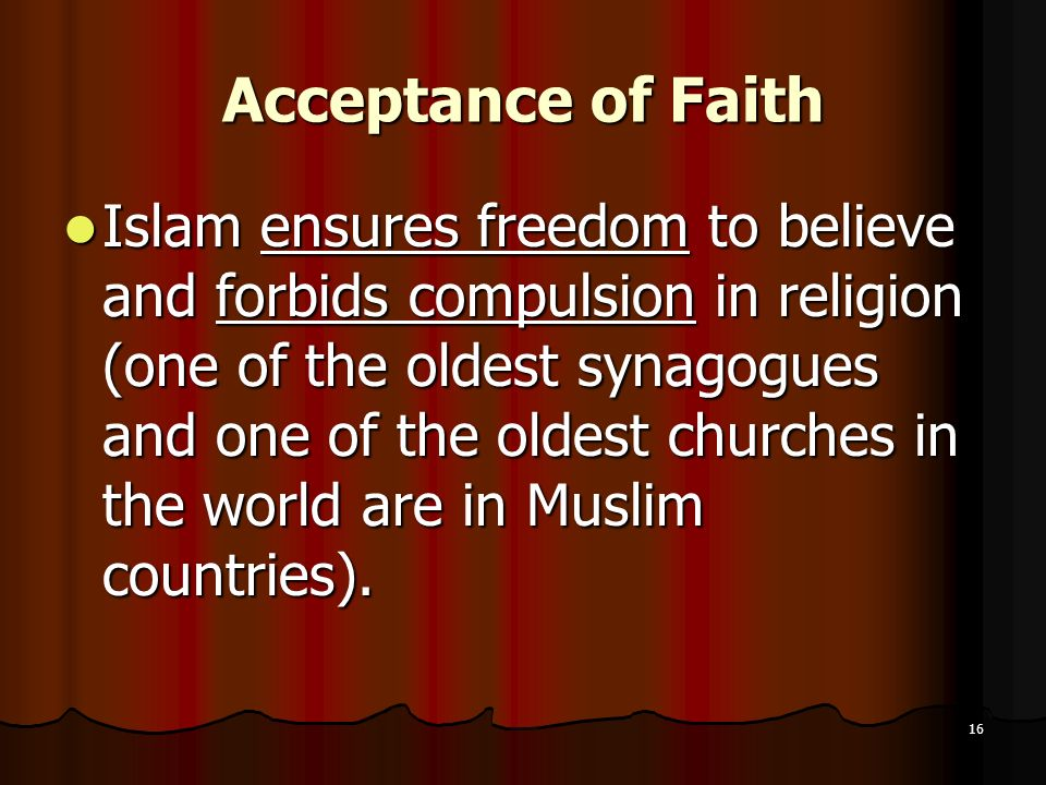 Acceptance of Faith