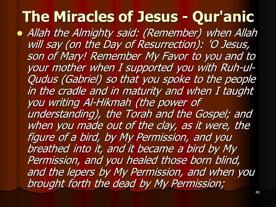 The Miracles of Jesus - Qur anic