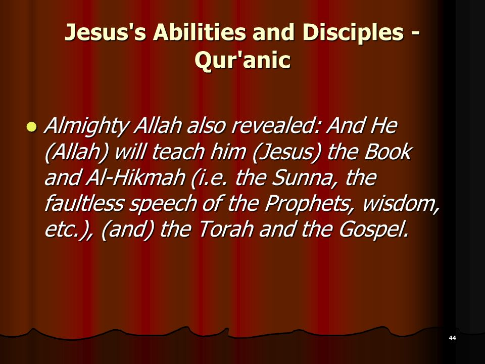 Jesus s Abilities and Disciples - Qur anic