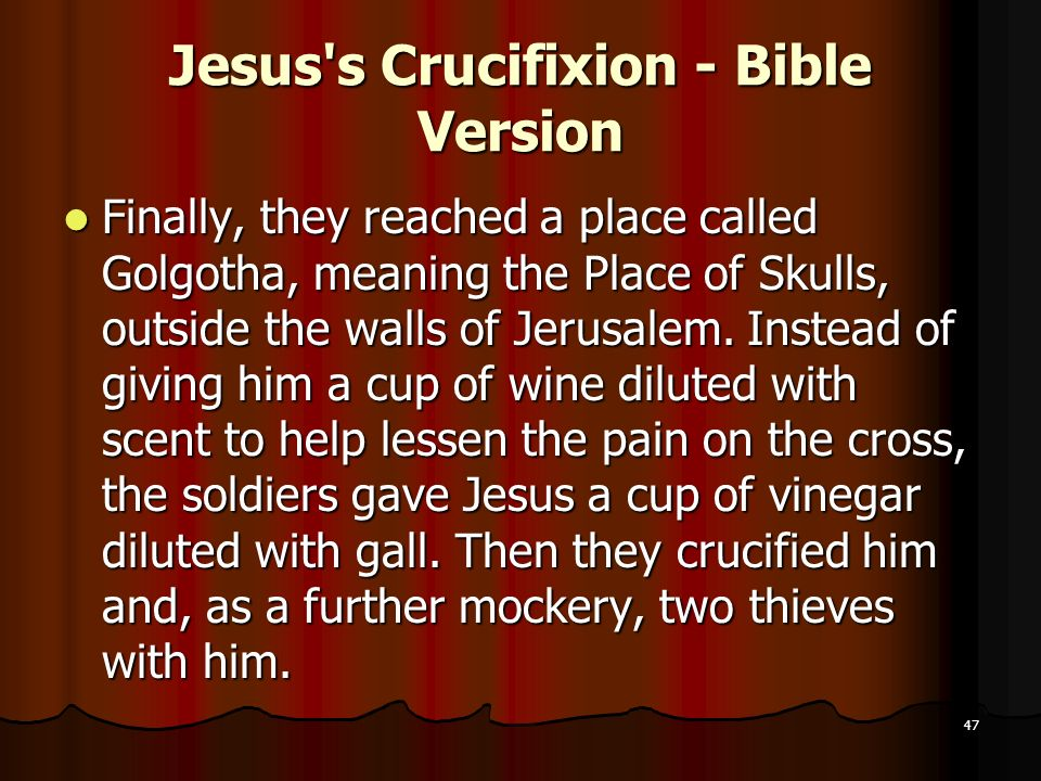 Jesus s Crucifixion - Bible Version