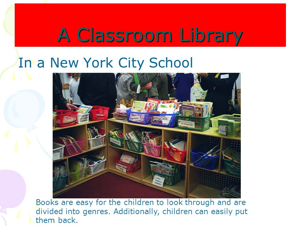 A Classroom Library In a New York City School