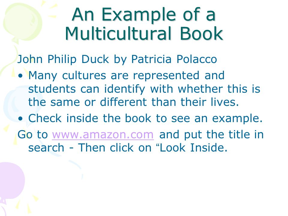 An Example of a Multicultural Book