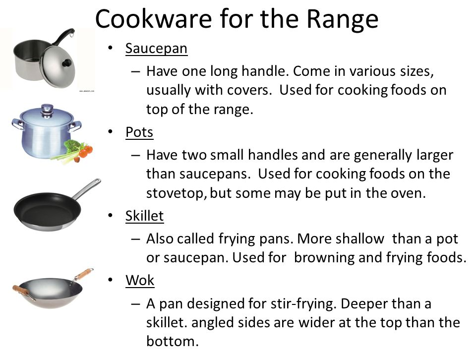 Cookware for the Range Saucepan