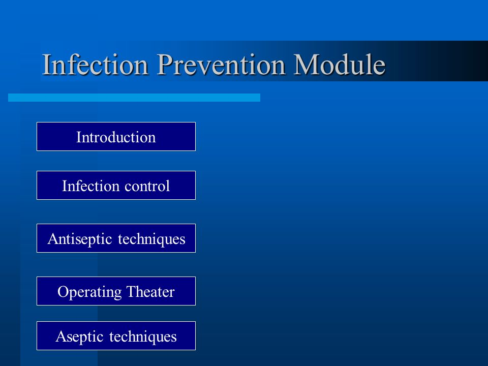 Infection Prevention Module