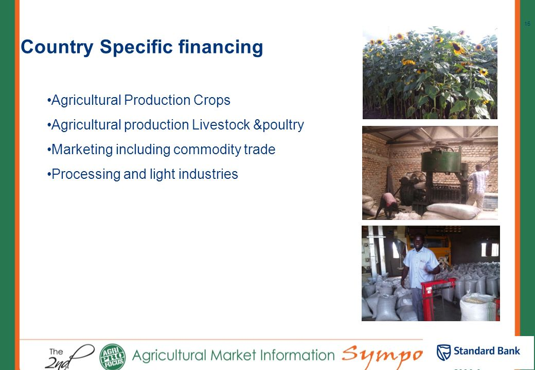 Country Specific financing