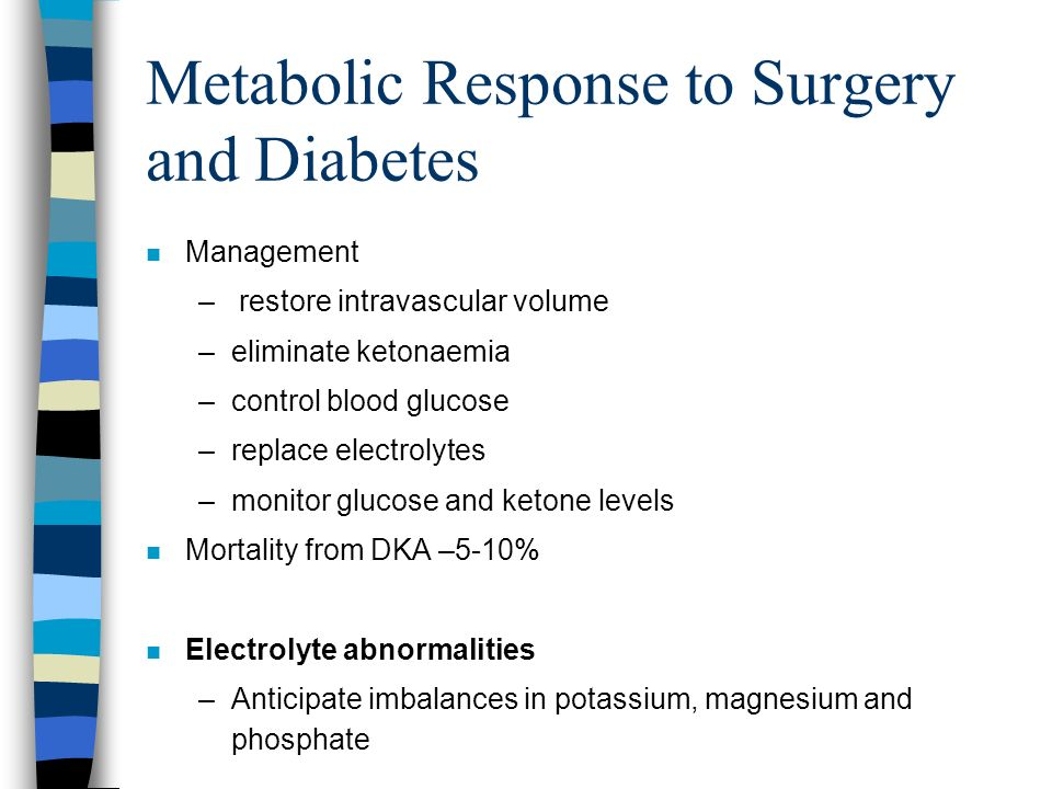 Metabolic Response to Surgery and Diabetes
