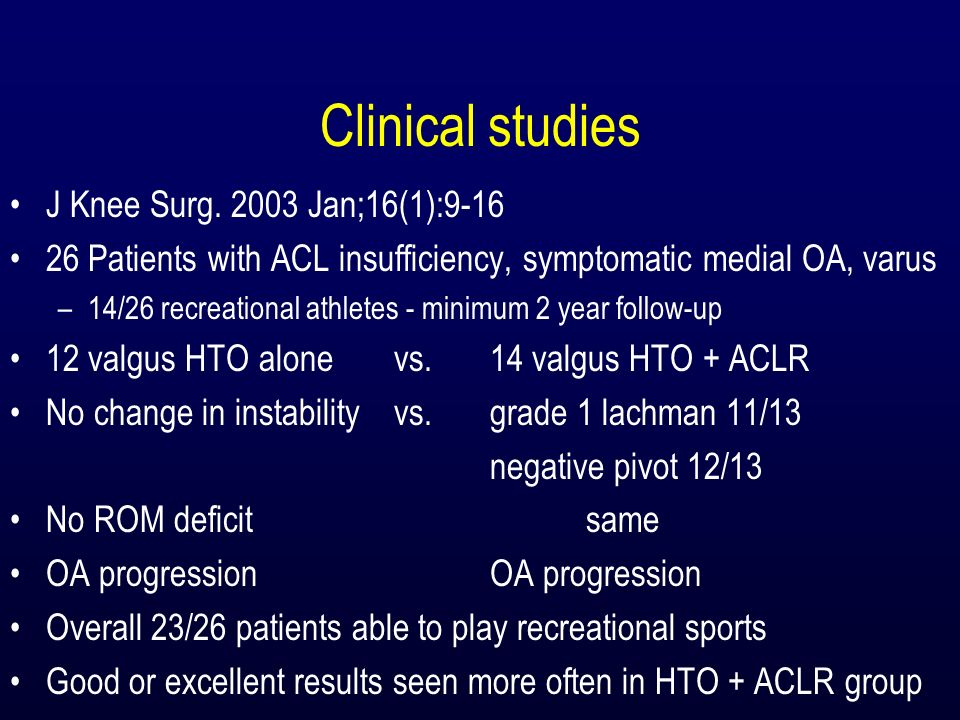Clinical studies J Knee Surg. 2003 Jan;16(1):9-16