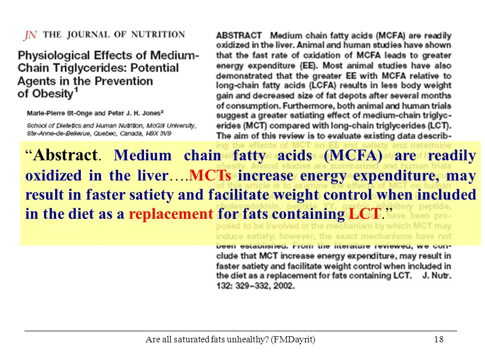 Are all saturated fats unhealthy (FMDayrit)
