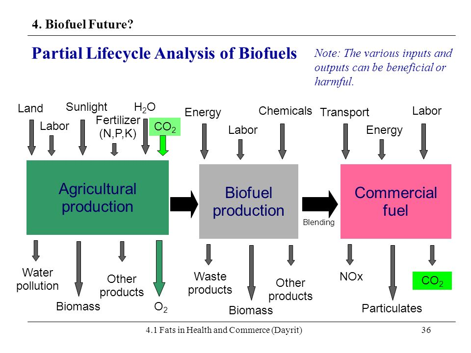 Partial Lifecycle Analysis of Biofuels