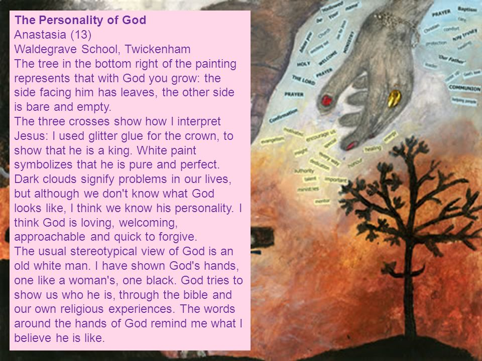 The Personality of God Anastasia (13) Waldegrave School, Twickenham